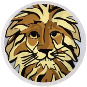 Lion Front Round Beach Towel