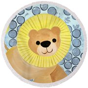 The Blessing Of The Lion Round Beach Towel