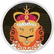 Lion King Round Beach Towel