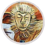 Lion Of Judah II Round Beach Towel