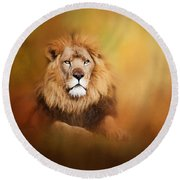 Lion - Pride Of Africa I - Tribute To Cecil Round Beach Towel