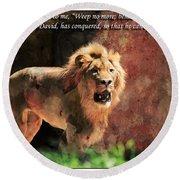 Lion Revelation 5 Round Beach Towel