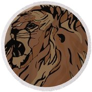 Lion Side Round Beach Towel