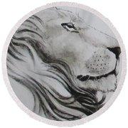 Lion Tears Round Beach Towel
