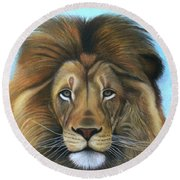 Lion - The Majesty Round Beach Towel