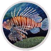 Lionfish Round Beach Towel