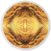 Lion's Eye Round Beach Towel by Maria Watt
