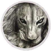Lion's World Round Beach Towel