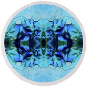Round Beach Towel featuring the digital art Liquid Abstract #0059-1 by Barbara Tristan