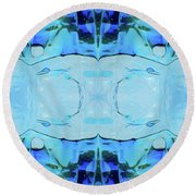 Round Beach Towel featuring the digital art Liquid Abstract  #0059-2 by Barbara Tristan