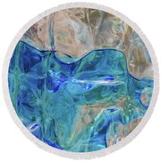 Round Beach Towel featuring the photograph Liquid Abstract  #0060 by Barbara Tristan