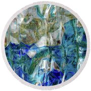 Round Beach Towel featuring the photograph Liquid Abstract #0061 by Barbara Tristan