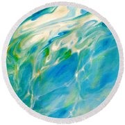 Liquid Assets Round Beach Towel