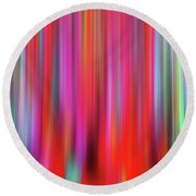 Round Beach Towel featuring the digital art Liquid Fibers by Zaira Dzhaubaeva