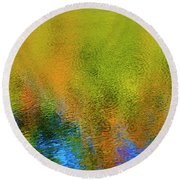 Round Beach Towel featuring the photograph Liquid Light by Gary Hall