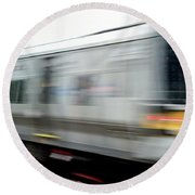 Lirr East Bound Round Beach Towel