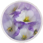 Round Beach Towel featuring the photograph Lisianthus Grouping by David and Carol Kelly