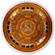 Lisieux St Therese Basilica Dome Ceiling Round Beach Towel