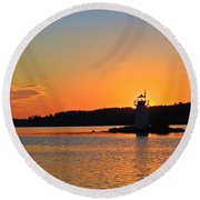 Lit By The Sun Round Beach Towel