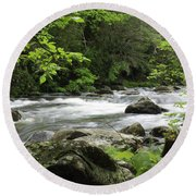Litltle River 1 Round Beach Towel