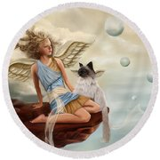 Little Angel Round Beach Towel