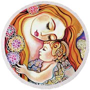 Little Angel Sleeping Round Beach Towel