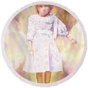 Little Anna Round Beach Towel