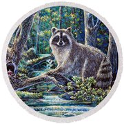 Little Bandit Round Beach Towel
