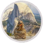 Little, Big Squirrel Round Beach Towel