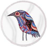 Little Bird Round Beach Towel