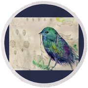 Little Bird Round Beach Towel