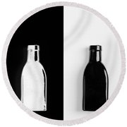 Round Beach Towel featuring the photograph Little Black  Bottle by Andrey  Godyaykin
