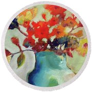 Little Bouquet Round Beach Towel