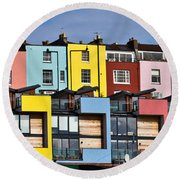 Little Boxes Round Beach Towel