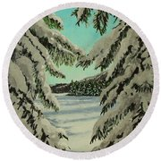 Little Brook Cove Round Beach Towel