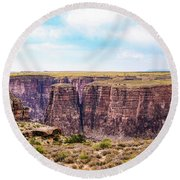 Little Canyon Round Beach Towel