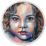 Little Cherub Round Beach Towel