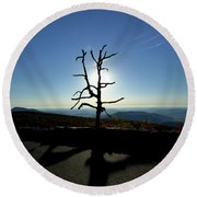 Round Beach Towel featuring the photograph Little Devil Stairs Overlook by Robert Geary