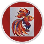 Little Fish Round Beach Towel