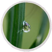 Little Garden In The Droplet Round Beach Towel