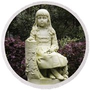 Little Gracie Bonaventure Cemetery Round Beach Towel by Jeannette Hunt