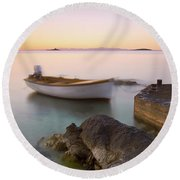 Round Beach Towel featuring the photograph Little Haven by Davor Zerjav