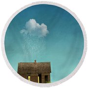 Round Beach Towel featuring the photograph Little House Of Sorrow by Juli Scalzi