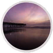 Little Island Sunrise Round Beach Towel