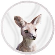 Little Kangaroo Round Beach Towel by Amy Hamilton