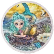 Little Mermaid Round Beach Towel