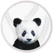 Little Panda Round Beach Towel