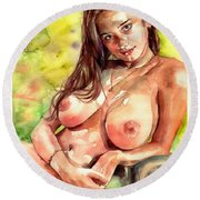 Little Poison Round Beach Towel