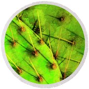Round Beach Towel featuring the photograph Prickly Pear by Paul Wear