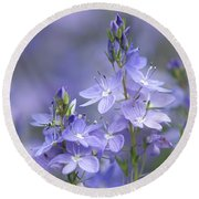 Little Purple Flowers Vertical Round Beach Towel